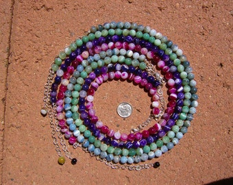 Striped Agate Necklaces