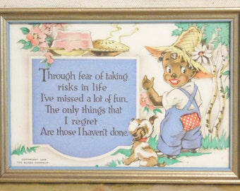 Adorable postcard with inspirational poem from 1938