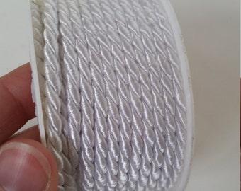 Ivory rope twist ribbon. 4mm