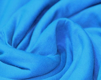 Aqua Blue - Cotton Lycra Jersey Knit Fabric