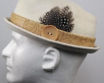 Custom Fur Felt Fedora Hat