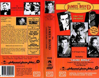 James Bond - rare VHS tape - Casino Royale - Still sealed. Pre-dates Sean Connery - Stars Barry Nelson