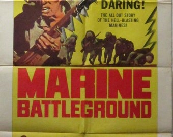 Marine Battleground - 1966 - Original US one sheet movie poster