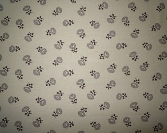 Brown Flowers on Tan Background, Collections Love by Howard Marcus for Moda Fabrics, 100% Cotton