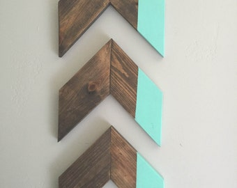 Rustic Dipped Chevron Arrow Set
