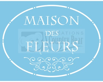 Stencil - Maison des Fleurs  -   ST-209-1  -  Tracy Moreau