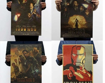 The iron man series kraft paper poster estoring ancient ways, Hollywood movie posters dormitory adornment picture