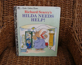 HILDA NEEDS HELP! LITTLE GOLDEN BOOK #208-64