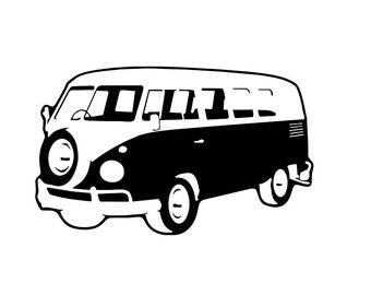 "Bumper sticker ""VW bus"""