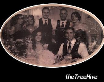 Custom Wood Image Transfer - Family