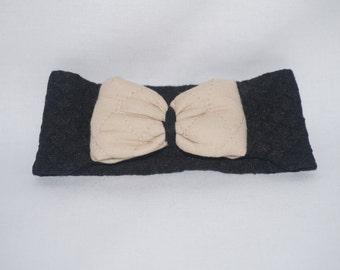 Black and Tan Thick Headband