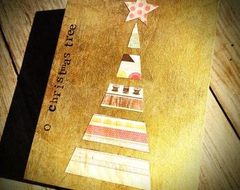 o christmas tree (5x7) gold