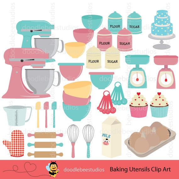 Cake Art Bakery Supplies : Baking Clipart Baking Utensils Clip Art Baking Equipment