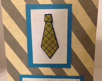 Happy Father's Day Tie Card- Handmade