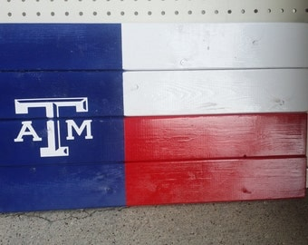 Texas A&M Aggie wall art Texas flag