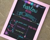 Reusable Birthday Board / First Day of School Chalkboard / Birthday Board / Photo Prop