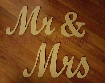 Wedding Mr. & Mrs. Wooden Wall Art Mr and Mrs Sign