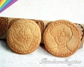 Engraved rolling pin,Sailor Moon,Tuxedo Mask,sailor moon cookie,sailor moon cookie mold fondant,cupcake topper,cookie cutter,kiss,wedding