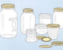 Mason jar set - quart mason jar - pint mason jar - votive candle holder - half gallon jar - mason jar wraps - jar sleeves