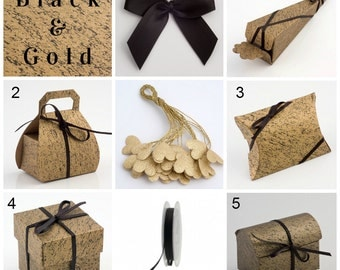 Black & Gold Favour Boxes