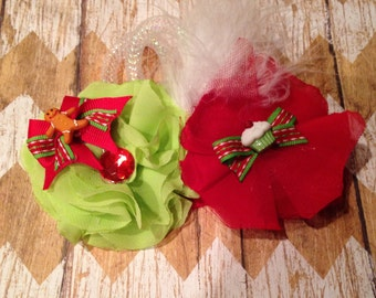 Red and Lime green Christmas Clip