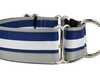 Nautical Martingale Dog Collar,Great Dane,Limited Slip Dog Collar,1 1/2 inch,1 inch,3/4 inch,Made in USA