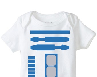 R2D2 Onesie Beanie Design Combo, SVG, EPS, DXF Vector files for use with Cricut or Silhouette Vinyl Cutting Machines