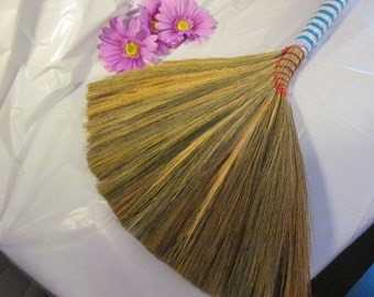 Undecorated Wedding Jump Broom  - Jump the Broom at Your Wedding  - L.BL/WH