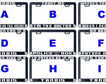 Tardis my other car ride where is trust Dr Who assorted license plate frame holder tag