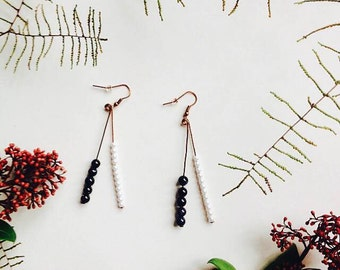 "earrings copper / goldstone / ""copa!"