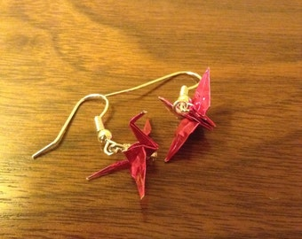 Origami Earrings (Metallic Paper)