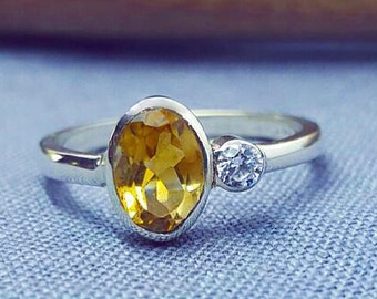 Statement Citrine Ring