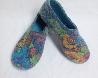 Sale -22% Women's house shoes, Felted wool slippers, woolen clogs, handmade slippers, Gift for her