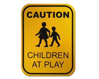 """Reflective Children At Play Sign 9"""" x 12"""""""