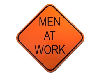 "Reflective ""Men At Work"" Sign 12"""