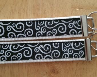 Black and White keychain