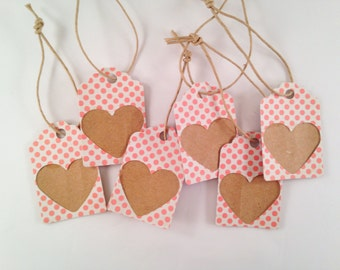 Pink Polka Dot Gift Tags