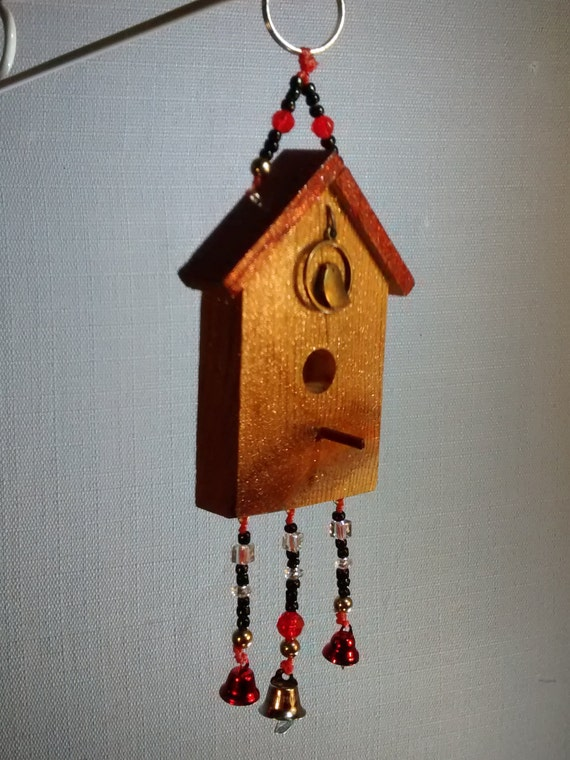 Wooden Birdhouse Wall Decor : Birdhouse sparkle wood decorative wall hanging by