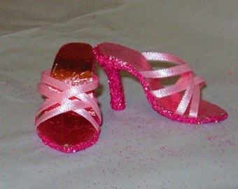 18 inch Revlon NEW PINK WEB Shoes for 18 inch Miss Revlon, Sweet Sue clothing & accesories