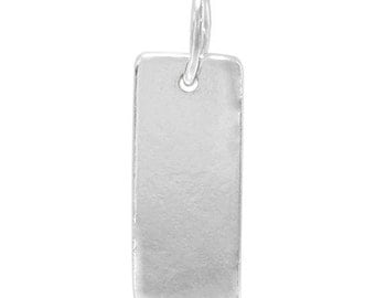 13mm long Rectangle Blank,Sterling Silver Stamping Blank,Rectangle 18ga,13mm x 6mm Silver Blank,Sterling Stamping Blank,Letter Stamp Blanks