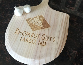 Custom Engraved Personalized Wood Pizza Paddle or Bread Peel for Wedding, Birthday, Anniversary Gift