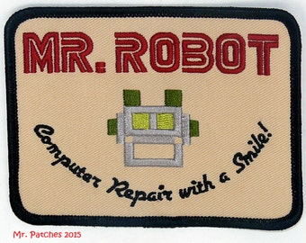 """MR ROBOT FSOCIETY 4"""" X 3"""" tv show iron & sew on Patch - free shipping"""