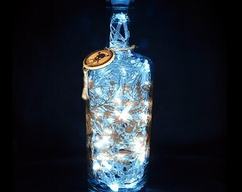 Silent Pool Gin Upcycled 70cl 80 LED Bottle Lamp Light by JayEngrave