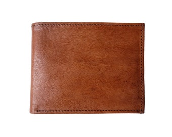 Genuine Leather Wallet in Tan and Brown