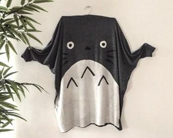 Totoro Cardigan Pleated Sweater