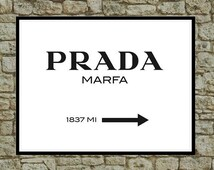 Prada Marfa Inspired Wall Art Poster - Fashion Art Print - Girls Room Decor - Teen Room Decor - Dorm Art