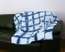 Shibori Indigo Fabric Linen - Home Decor Fabric