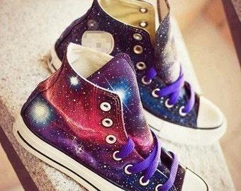 Galaxy Converse Shoes