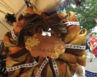 Fall thanksgiving wreath