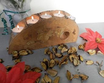 Handmade Wooden Candlestick / Original Romantic Candle / Wooden Candleholder / Old Wood Candlestick / Vintage Wooden Romantic Candlestick .